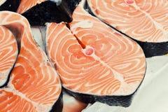 Salmoni tagliati Immagini Stock Libere da Diritti