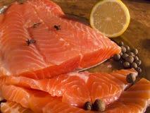 Salmoni (trota) fotografia stock libera da diritti