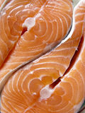 Salmons fillets. Fresh fish Royalty Free Stock Images