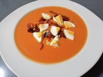 Salmorejo: Comida típica del español fotos de archivo