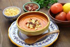 Salmorejo, spanish chilled tomato soup Stock Photo