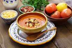 Salmorejo, spanish chilled tomato soup Royalty Free Stock Photography