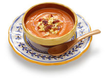 Salmorejo, spanish chilled tomato soup Stock Images
