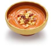 Salmorejo, spanish chilled tomato soup Royalty Free Stock Photos