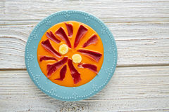 Salmorejo tapas karmowy surowy pomidorowy zupny Hiszpania Zdjęcie Royalty Free