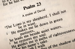 Salmos 23 Imagenes de archivo