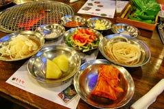 Salmoura e tempero coreanos imagens de stock royalty free