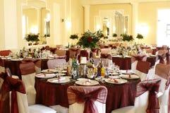 Salón de baile del acontecimiento, del partido o de la boda Imagen de archivo libre de regalías