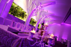 Salão de baile cor-de-rosa Fotos de Stock Royalty Free