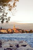 Salo en el lago Garda en Italia, Europa Imagen de archivo libre de regalías