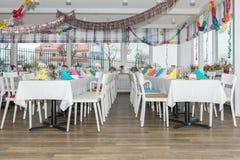 Salão festivo do banquete do ajuste da tabela Imagem de Stock