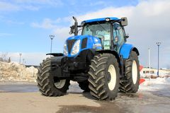 Blue New Holland Agricultural Tractor Royalty Free Stock Photo