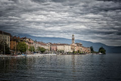 Salo on Lake Garda Italy Stock Photo