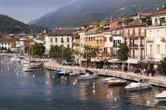 Salo on Lake Garda in Northern Italy Stock Photos