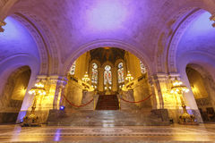 Salão principal colorido do palácio da paz Imagens de Stock