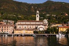 Salo sulla polizia Italia del lago Fotografie Stock