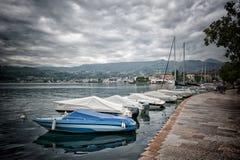 Salo sulla polizia Italia del lago Fotografia Stock