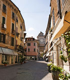 Salo town street scene on Lake Garda Stock Image