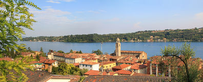 Salo village and garda lake, italy Royalty Free Stock Photography