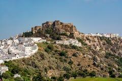 Salobrena & x28城堡的看法; 卡斯蒂略De SalobreA±a&& x29; 图库摄影