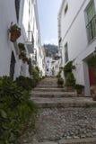 Salobrena stad i Spanien Arkivbilder