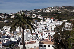 Salobrenya. Andalusia. Spain. December 20, 2015 - La Caleta - district town Salobreña. Traditional white houses is picturesquely situated on the slopes of the Stock Images