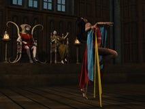 Salome danse pour Herod illustration de vecteur