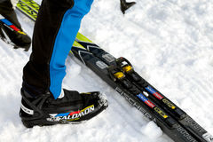 Salomon Ski Footwear Stock Image