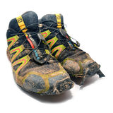 Salomon trail running shoes Stock Image