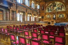 Salon à l'université d'Heidelberg images libres de droits