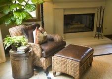 Salon à la maison de luxe de salle de séjour. Photos stock
