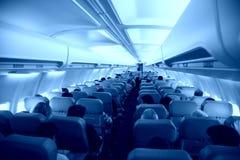 Salon of airplane Stock Photo