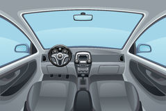 Salon auto. View inside interior of car Royalty Free Stock Photos
