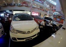 Salon automobile Photos libres de droits