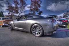 Salon automobile de Blackhawk Danville Nissan Skyline dans HDR Images stock