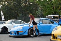 Salon automobile de modifications au 4ème anniversaire de Flushstyle thaïlandais Image stock