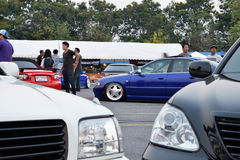 Salon automobile de modifications au 4ème anniversaire de Flushstyle thaïlandais Images libres de droits