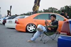 Salon automobile de modifications au 4ème anniversaire de Flushstyle thaïlandais Photographie stock