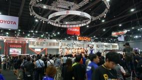 Salon automobile modifié au salon automatique international 2018 de Bangkok banque de vidéos