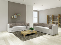 Salon avec des meubles illustration stock