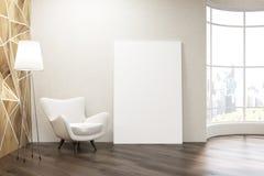 Salon avec la fenêtre ronde illustration de vecteur