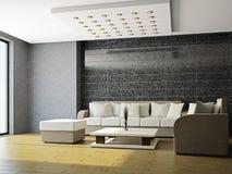 Salon avec le sofa illustration libre de droits