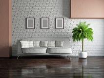 Salon avec le sofa illustration de vecteur