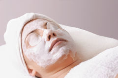 Salon-Behandlung stockfoto