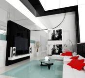 Salon blanc illustration libre de droits