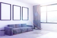 Salon blanc, galerie d'affiche modifiée la tonalité Photographie stock