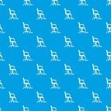 Salon chair pattern vector seamless blue. Repeat for any use vector illustration