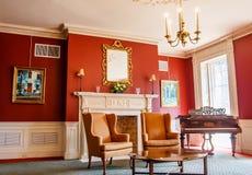 Salon classique avec le piano Image libre de droits