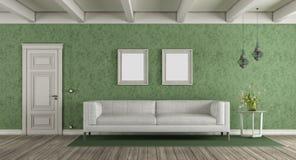Salon classique blanc et vert illustration stock