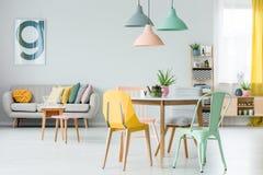 Salon coloré moderne images libres de droits